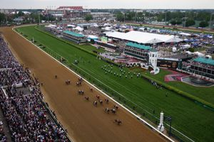 Kentucky Derby track with Infield