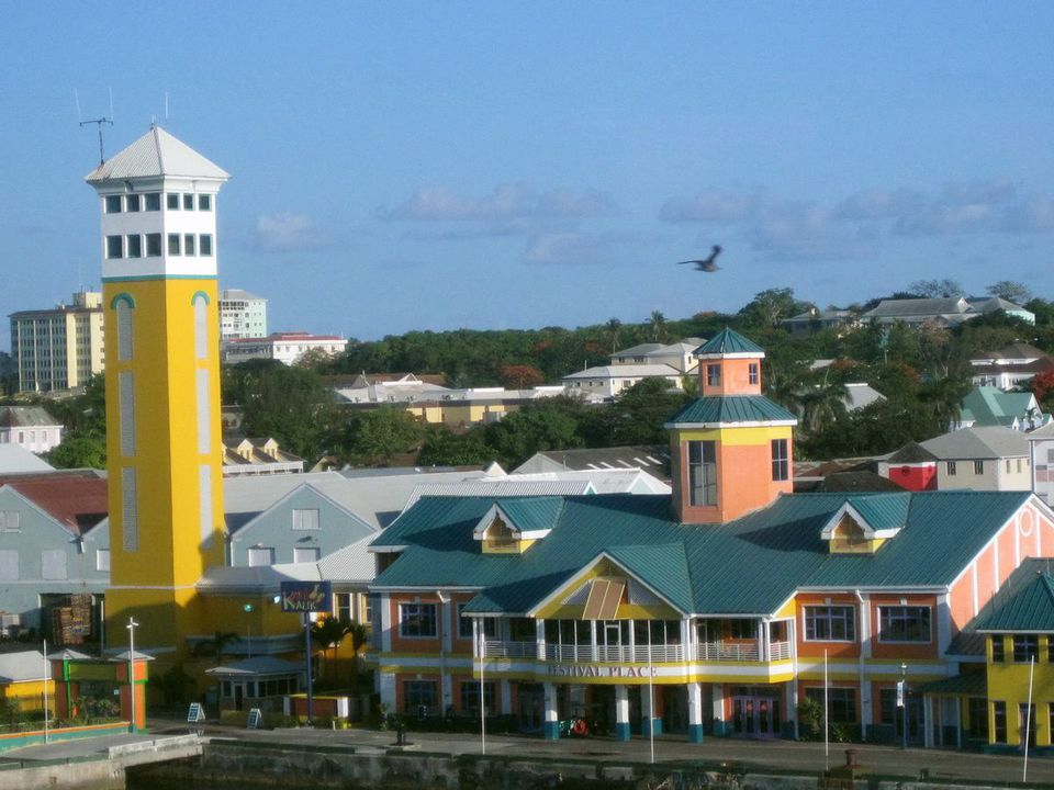 Downtown Nassau in the Bahamas