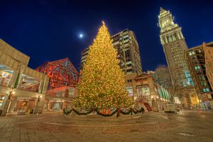 Christmas in Boston's Faneuil Hall Marketplace