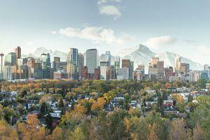 Skyline of downtown Calgary, Alberta, Canada