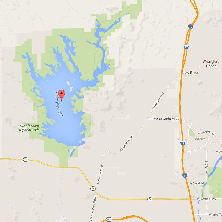 map of lake pleasant Lake Pleasant Park And Marinas Map And Directions map of lake pleasant