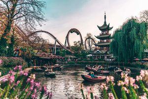 Tivoli Gardens Amusement Park in Copenhagen