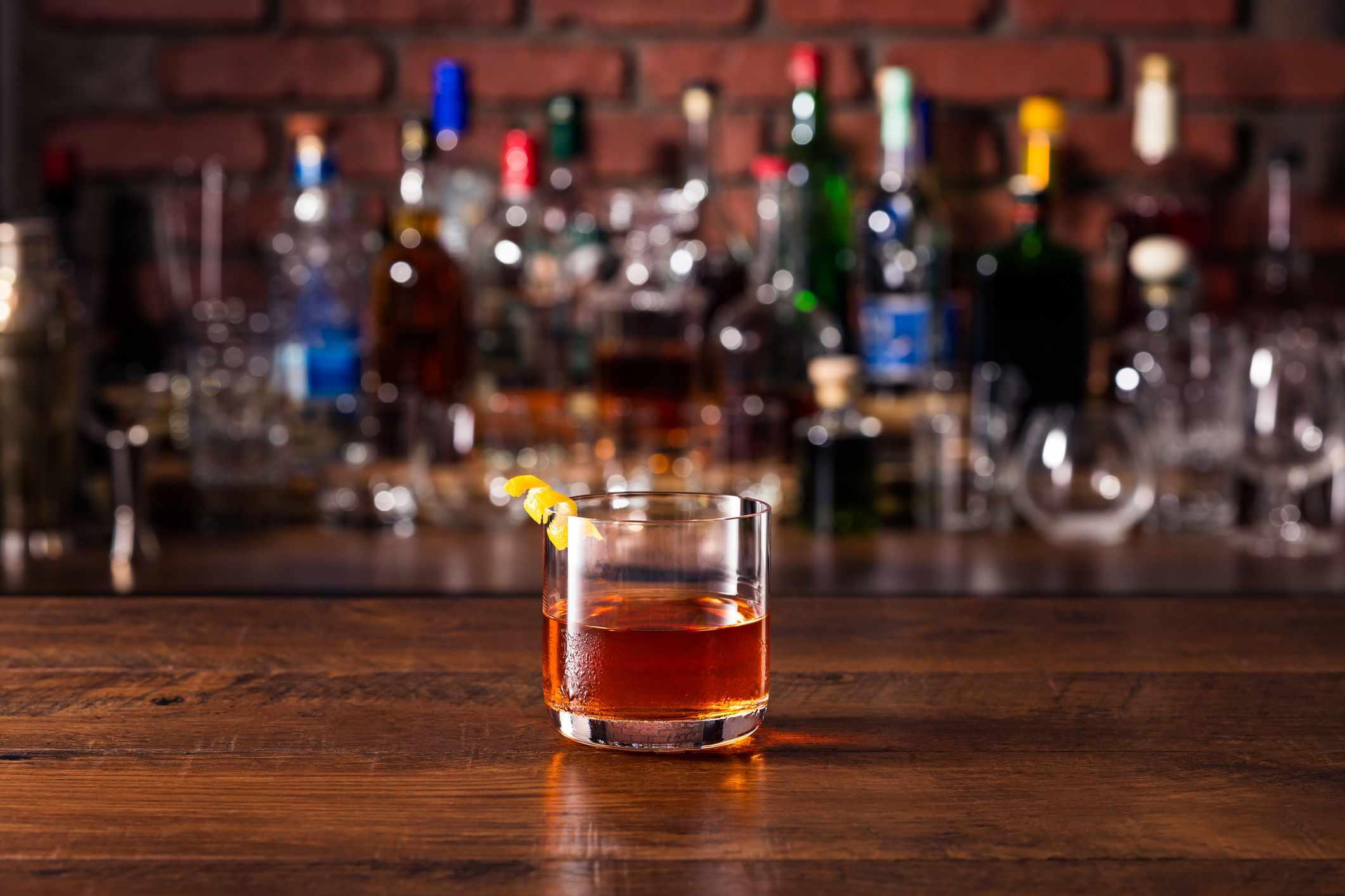 Refreshing Whiskey Sazerac Cocktail