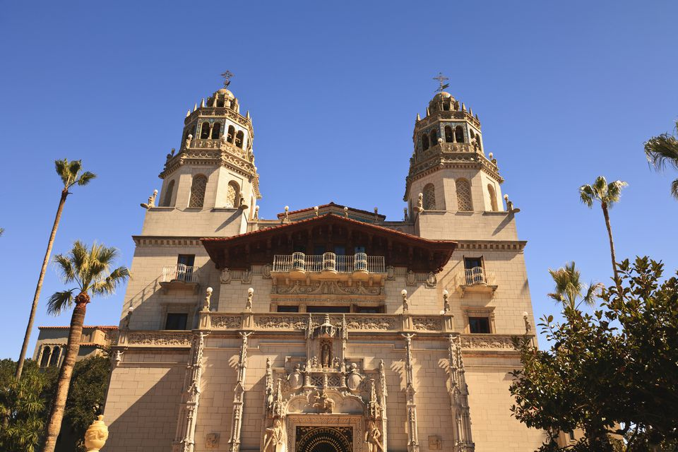 Hearst Castle A Mediterranean Style Mansion Atop A Hill Near San Simeon; California United States Of America