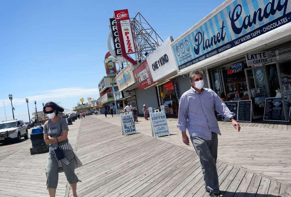 New Jersey Beaches And Boardwalks Start To Reopen Amid Coronavirus Pandemic