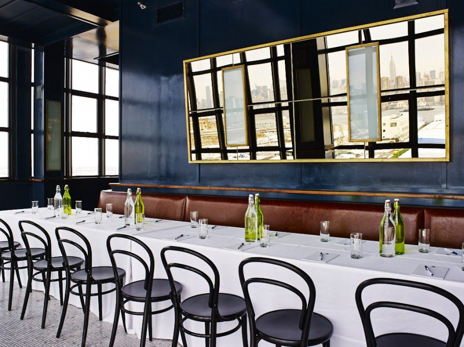 The Blue Room at the Ides Rooftop at the Wythe Hotel