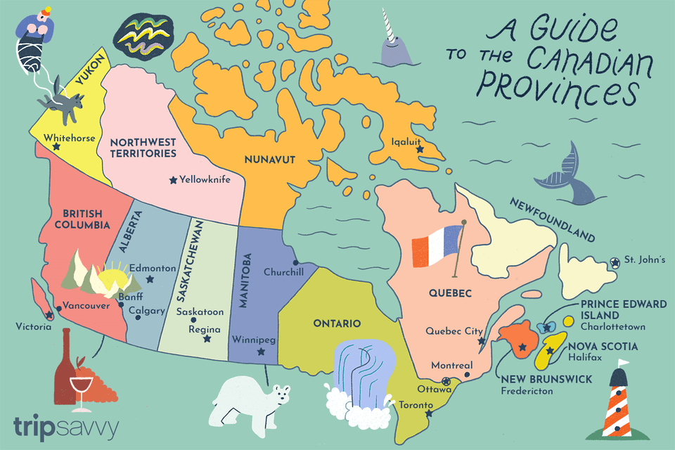 Illustration of the Canadian Provinces