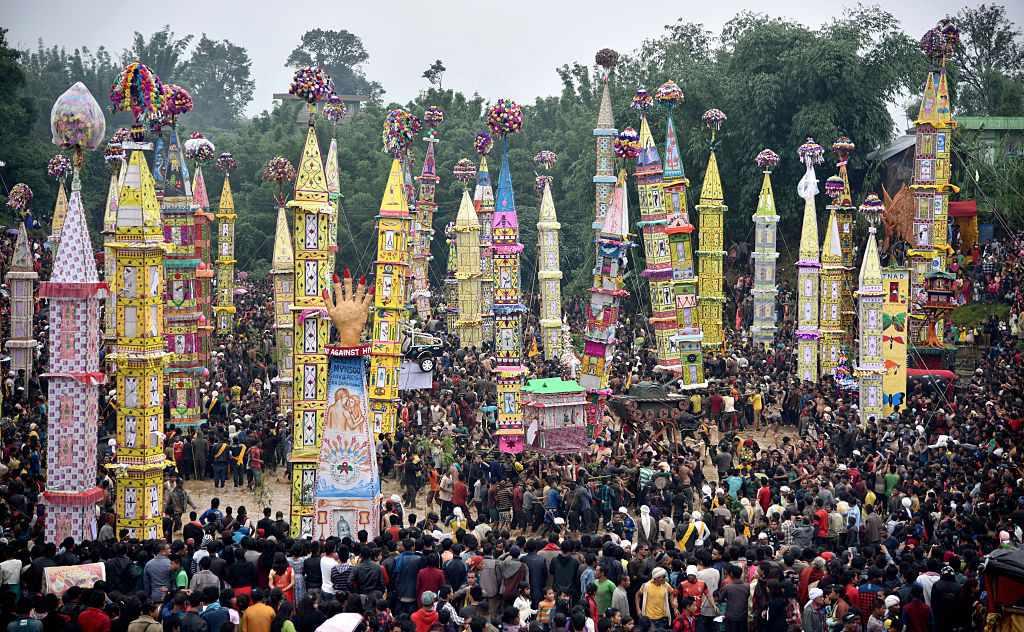 Festival Behdienkhlam en la aldea de Tuber, en el estado del noreste de Meghalaya