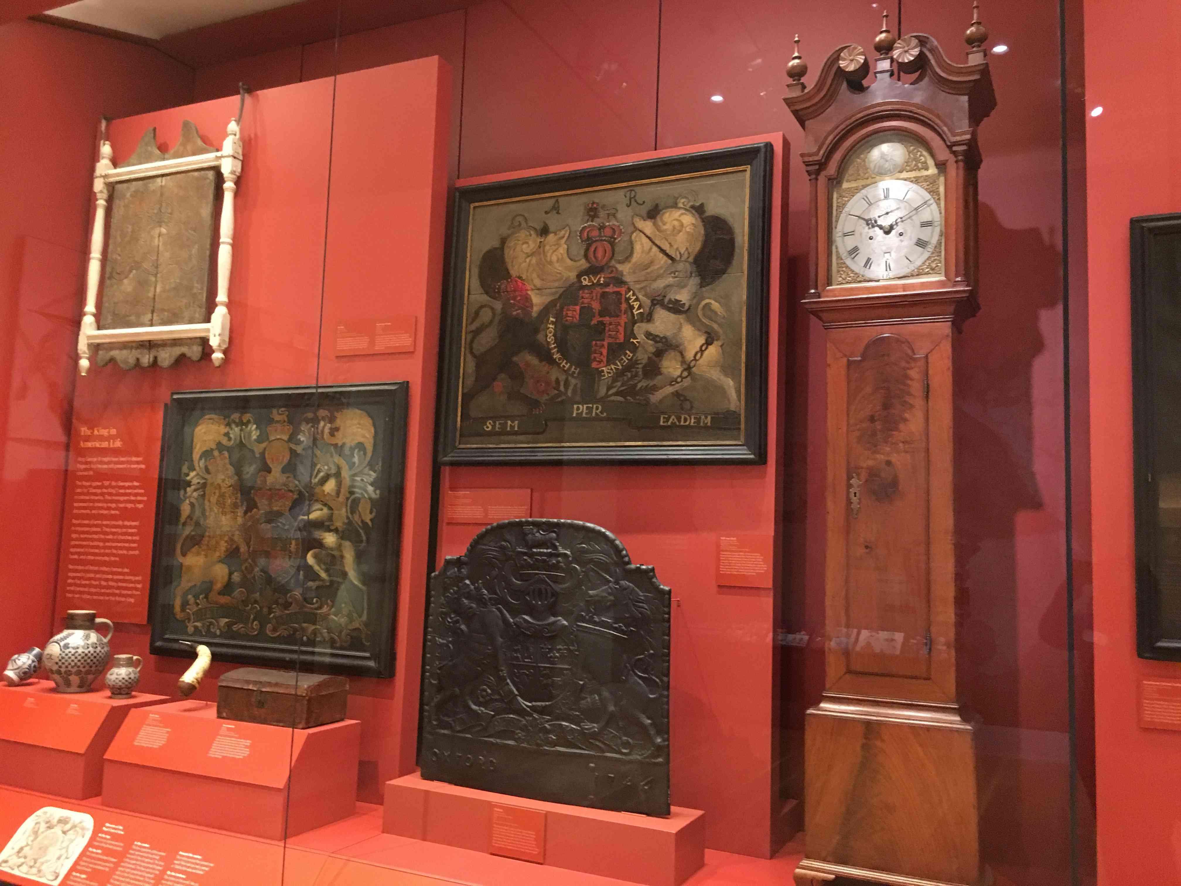Exhibit interior of American Revolution Museum