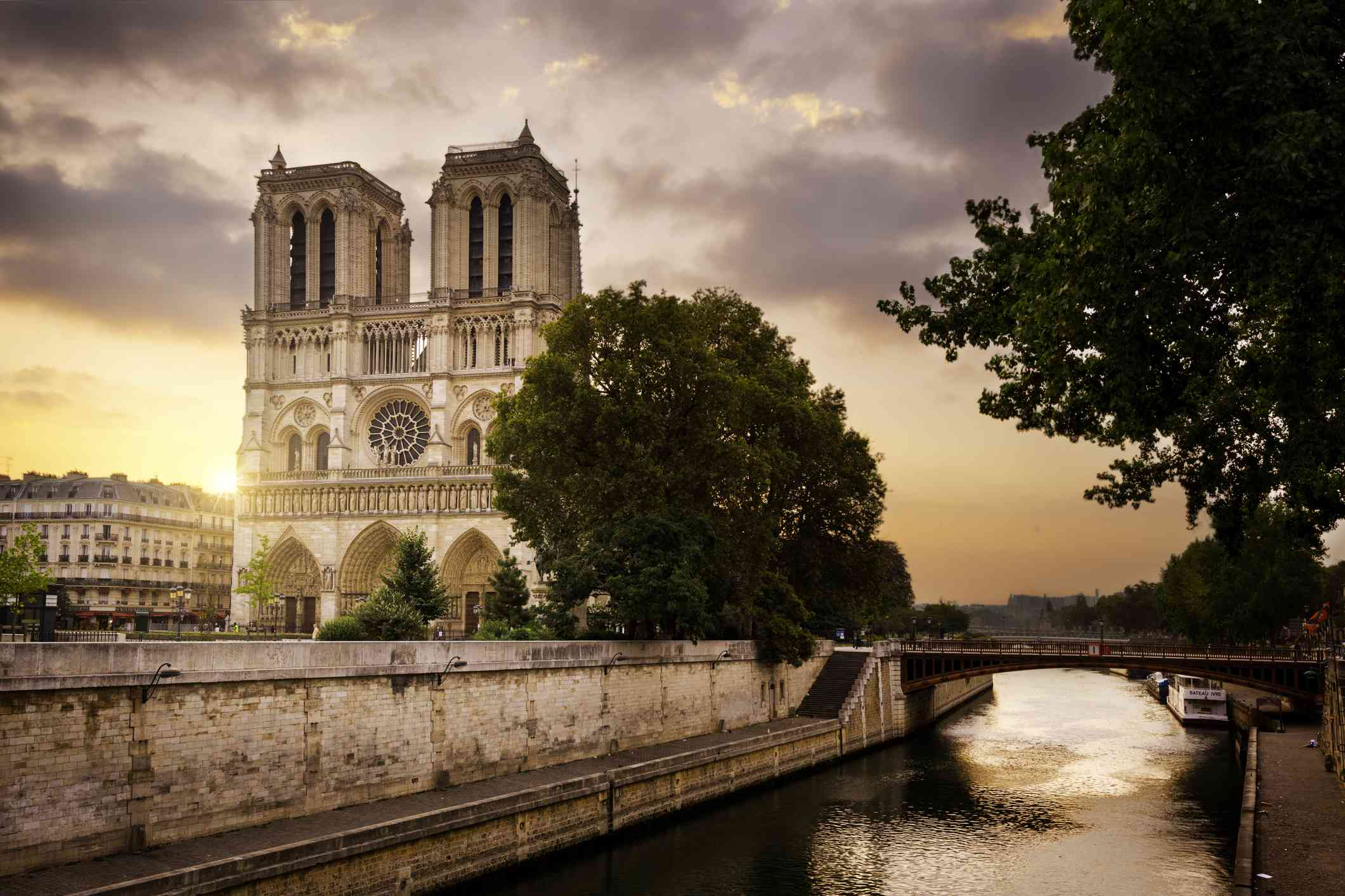 Notre-Dame Cathedral and Seine River, Paris