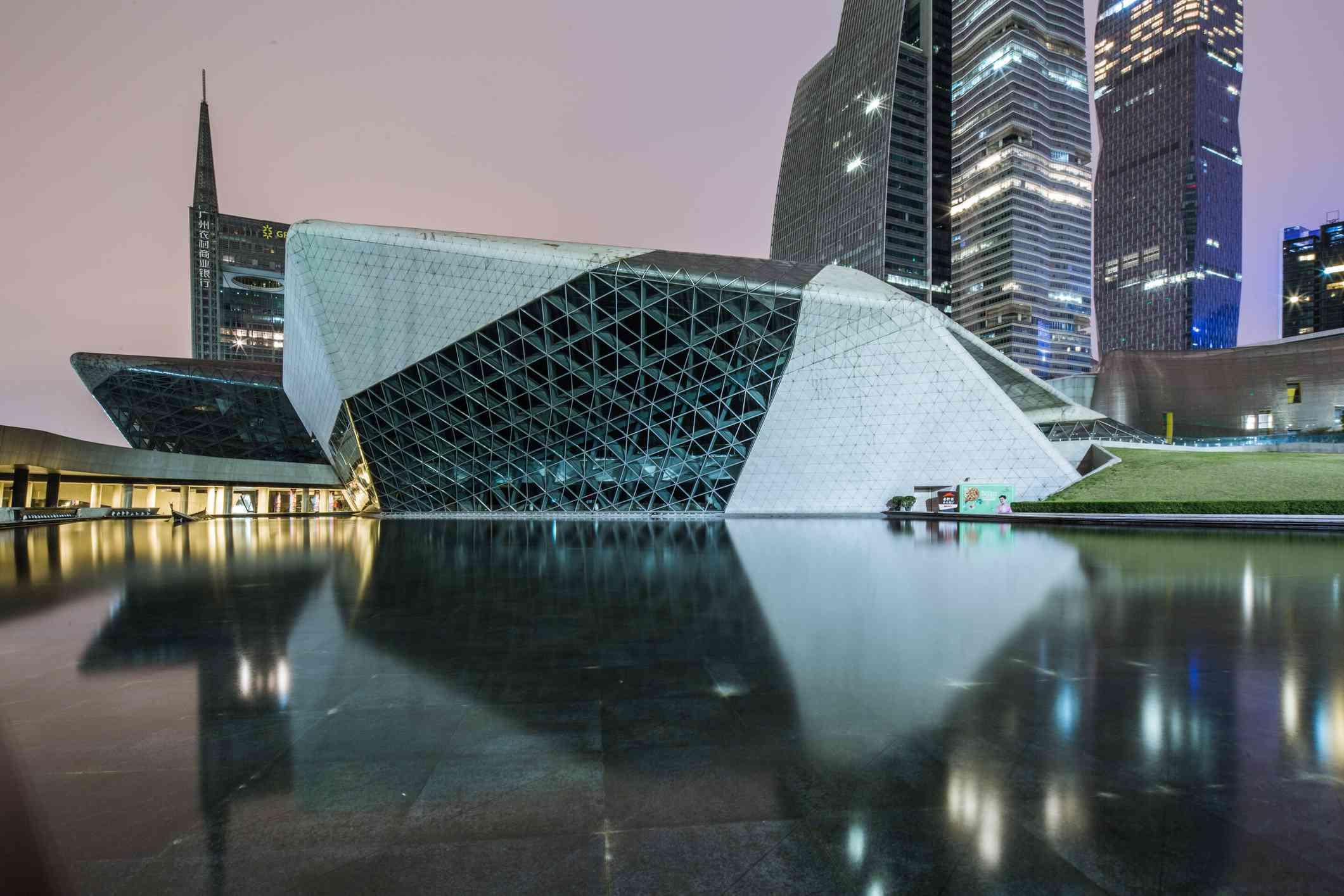 Night at the Guangzhou Opera House