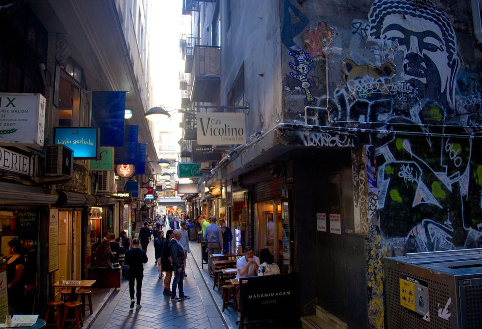 Cafes in Central Place lane