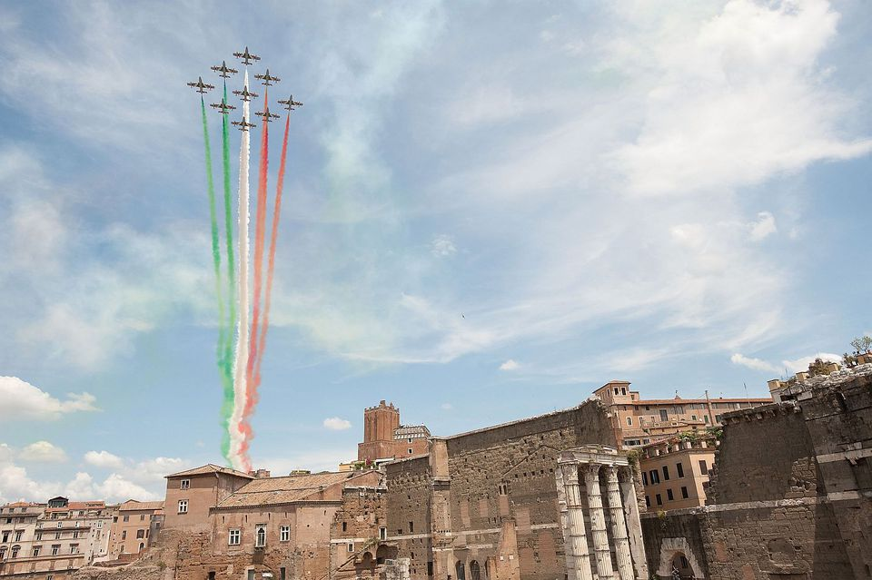 Rome Tricolore Republic day photo