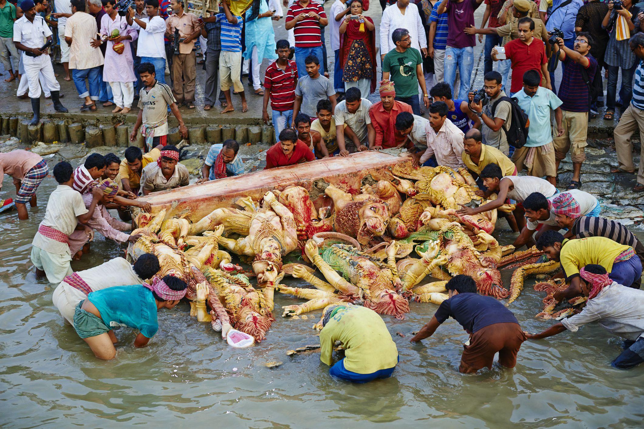 Durga immersion.