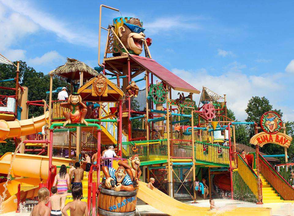 Parque acuático Splashin 'Safari en Holiday World en Indiana