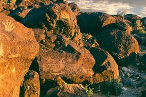Ancient rocks in Albuquerque, New Mexico.