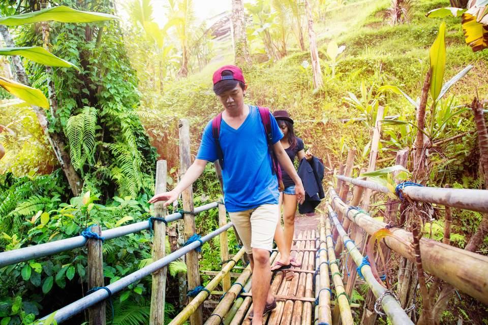 Bali Indonesia bamboo bridge