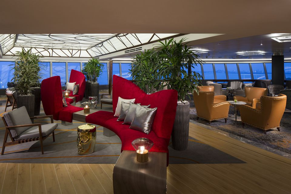 Crow's Nest Lounge on the Holland America Line Koningsdam cruise ship