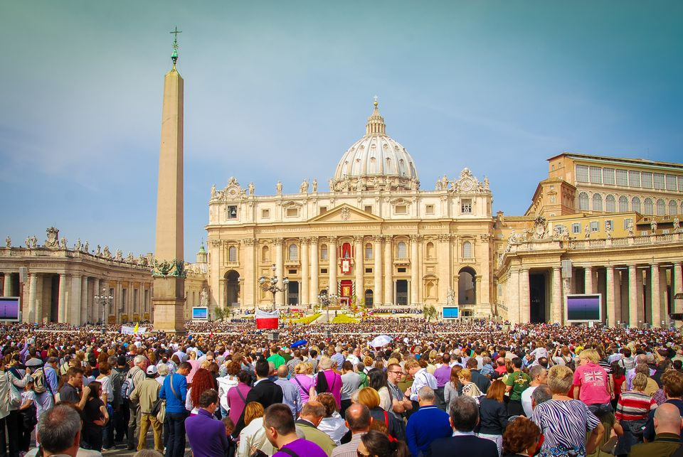 Easter Sunday in Rome, Italy