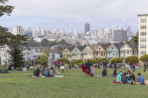Alamo Square and the Painted Ladies in San Francisco