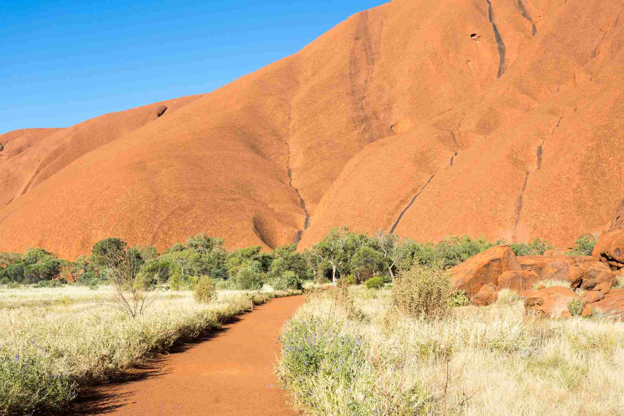 Uluru, centro rojo. Australia