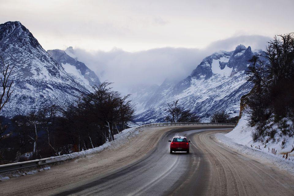 Conduciendo en la provincia de Tierra del Fuego