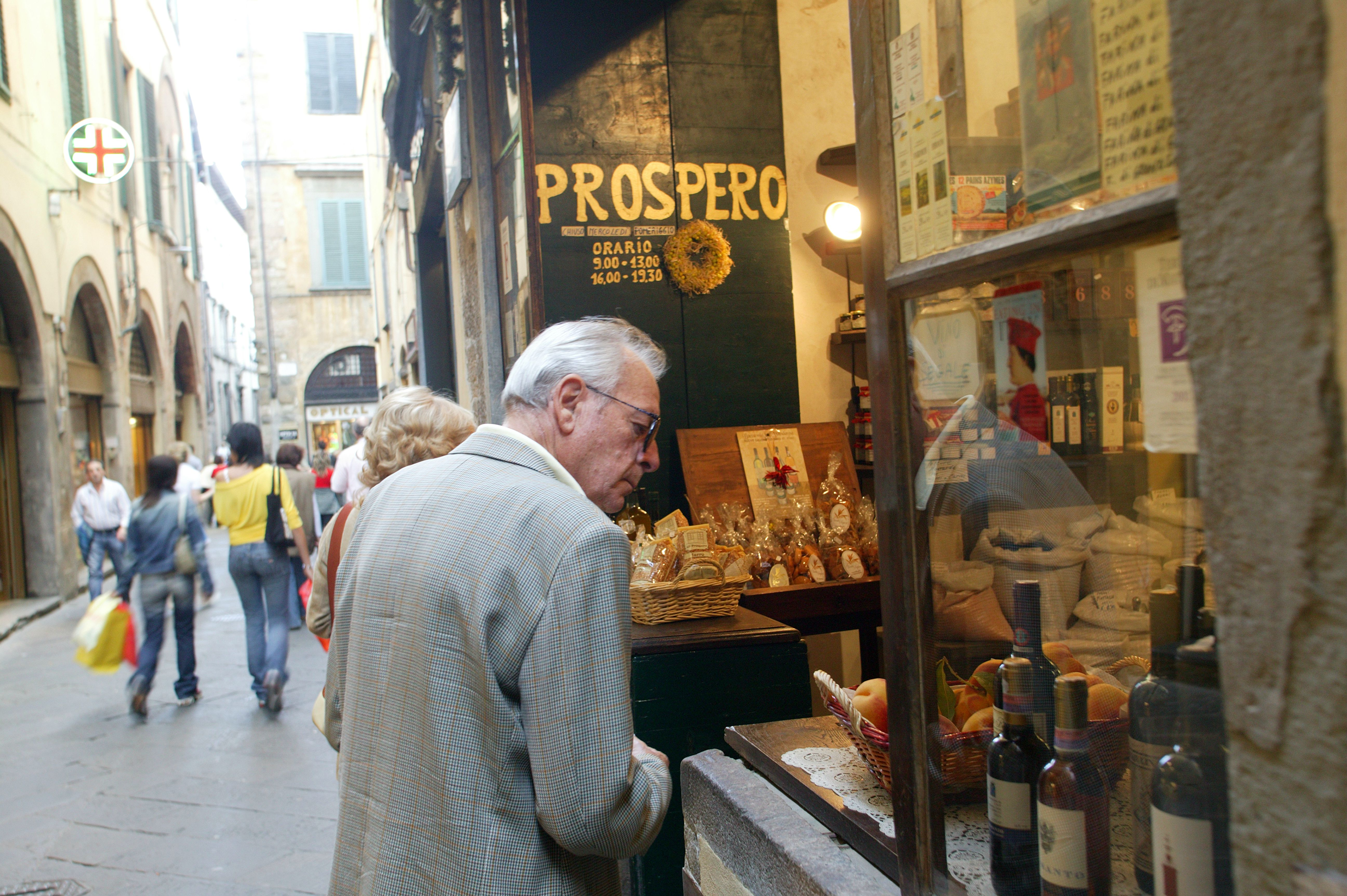 Window Shoppers Admiring Food