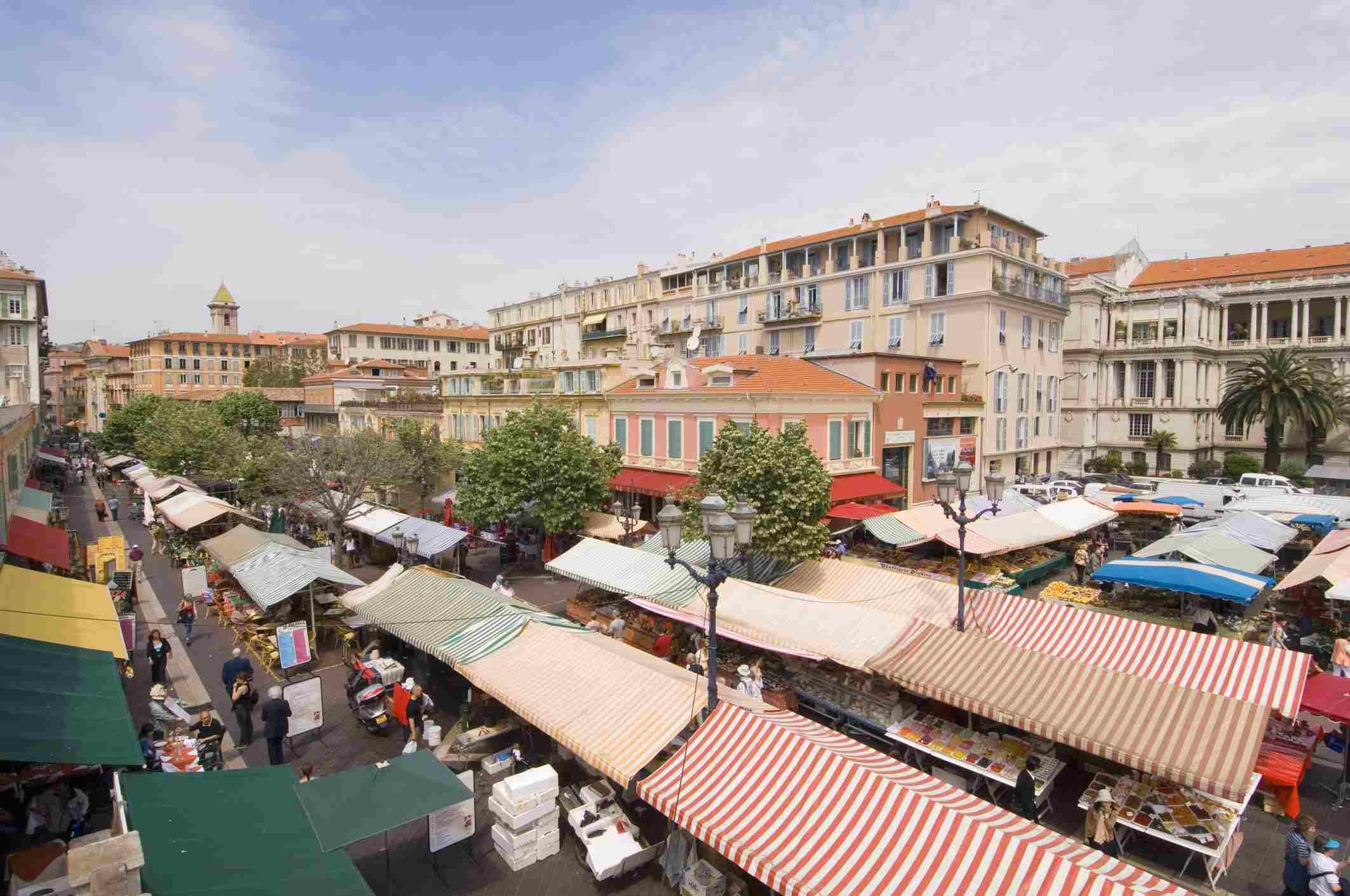 Cours Saleya, Niza, Alpes Marítimos, Provenza, Costa Azul, Riviera Francesa, Francia, Europa