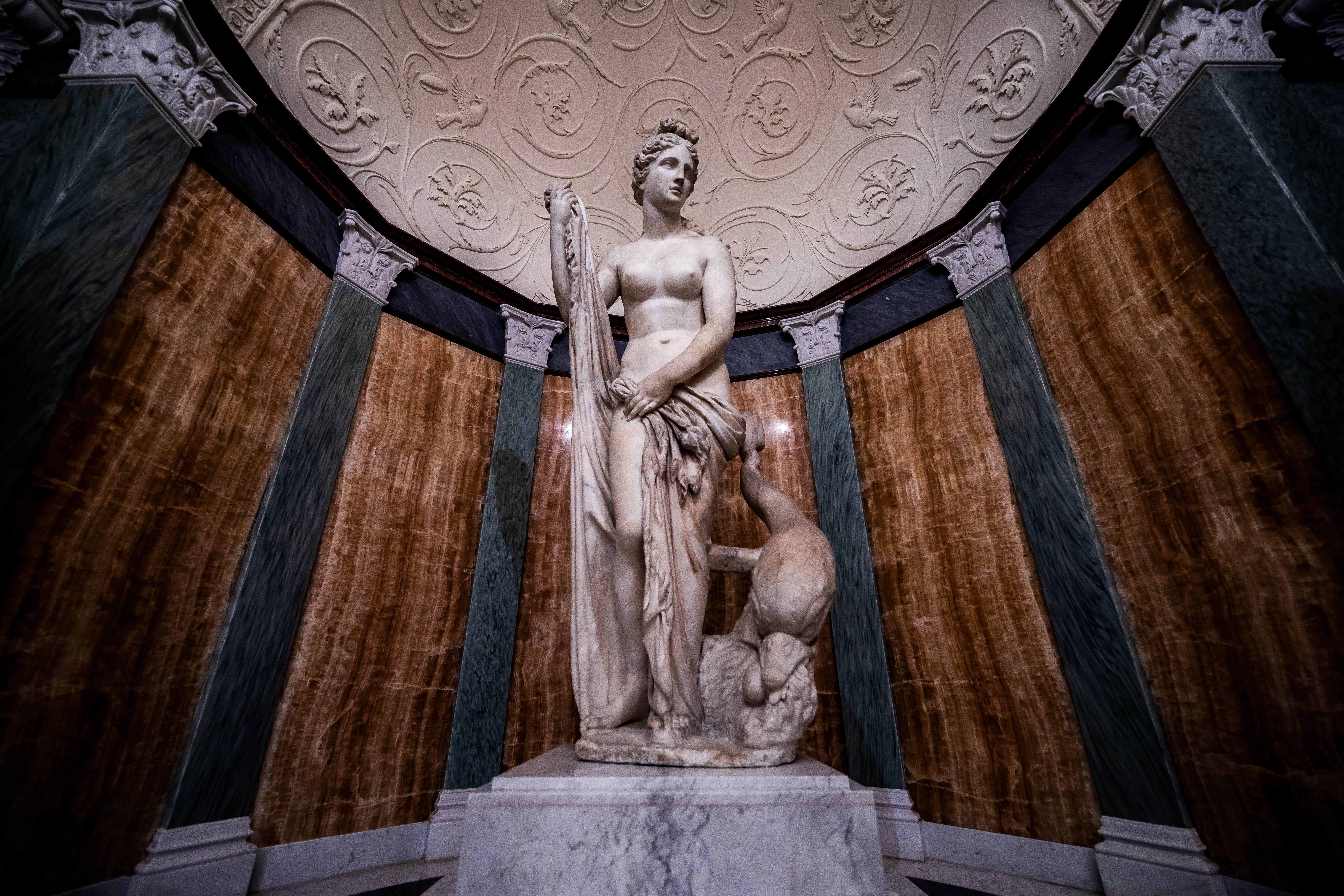 Statue in Getty Villa