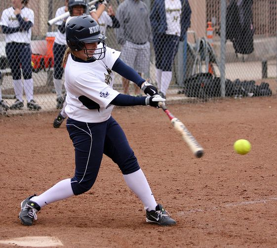 a person playing softball