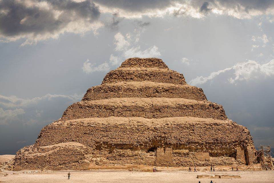 The Pyramid of Djoser at the necropolis of Saqqara in Egypt