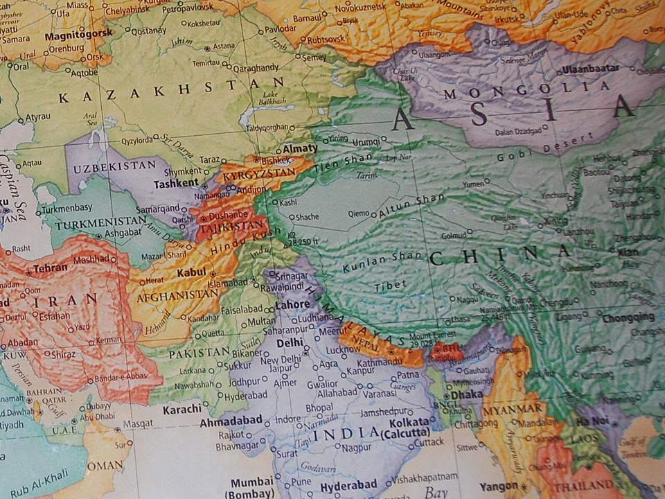 Map Of Asia Khand.How Did Asia Get Its Name