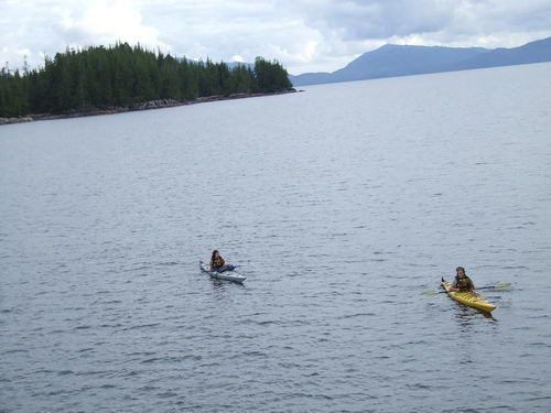Misty Fjords Kayak Rangers Approach Cruise West Spirit of Yorktown in Alaska