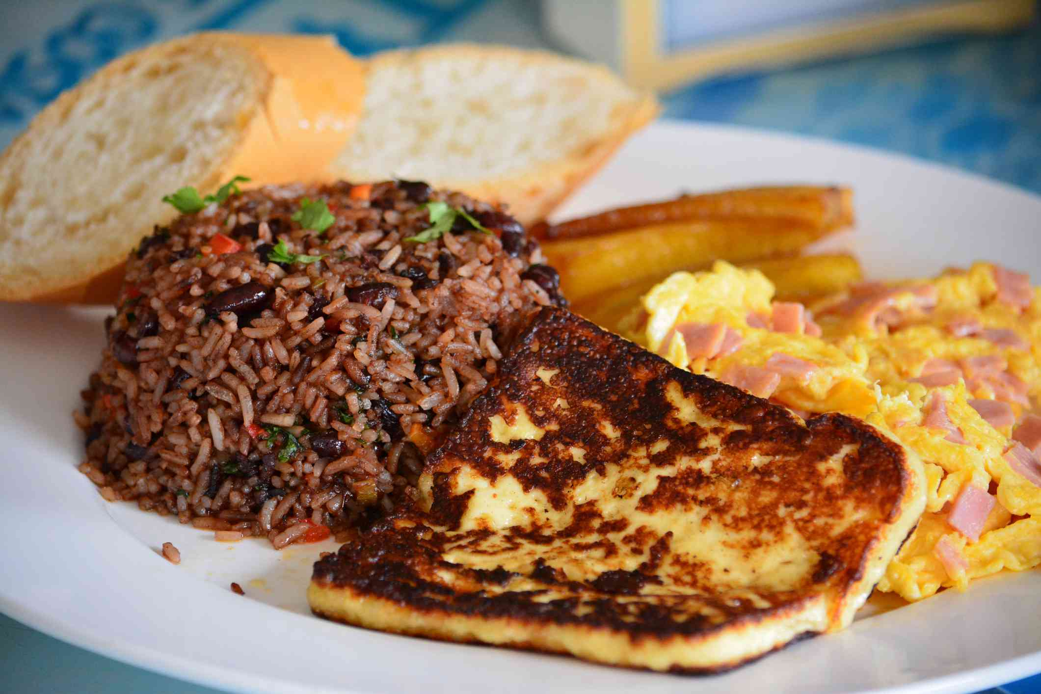 Comida típica en Costa Rica, desayuno Gallo Pinto