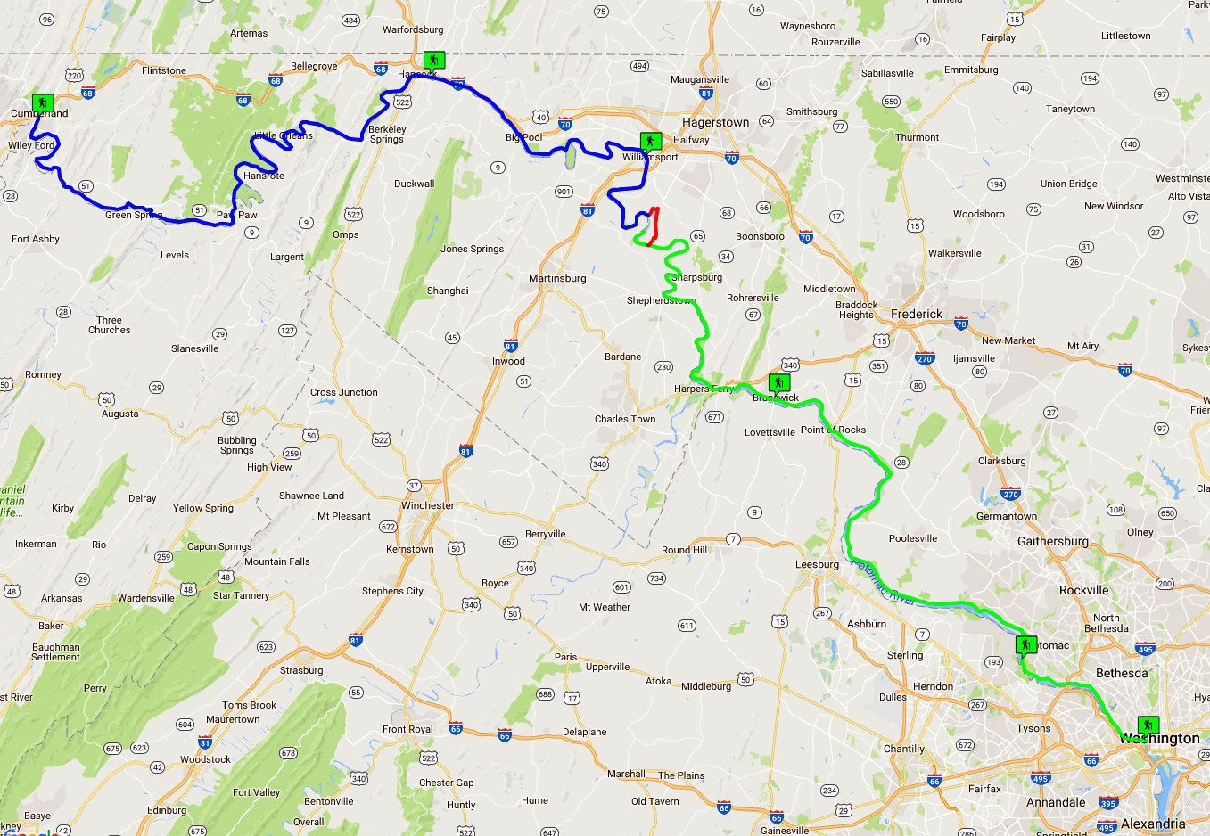 C & O Canal Maps and Visitor Center Locations