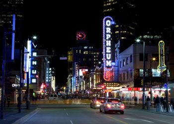 Granville Street in Downtown Vancouver