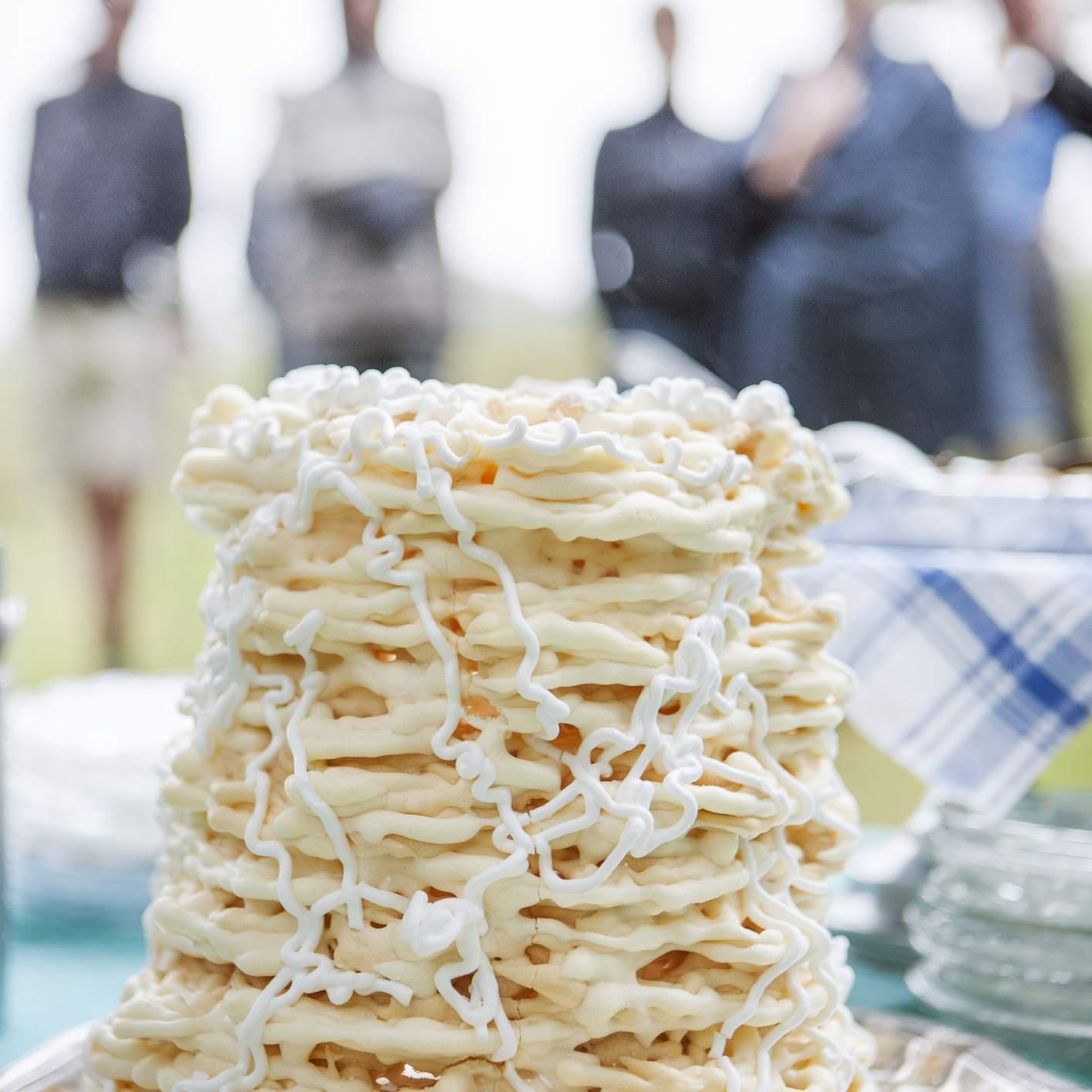 Close up of Spettekaka cake