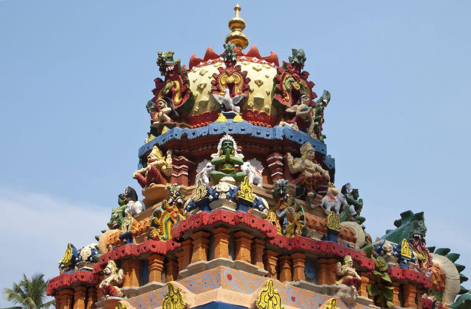 Janardhana Swami Temple, top of the temple, Varkala, Kerala