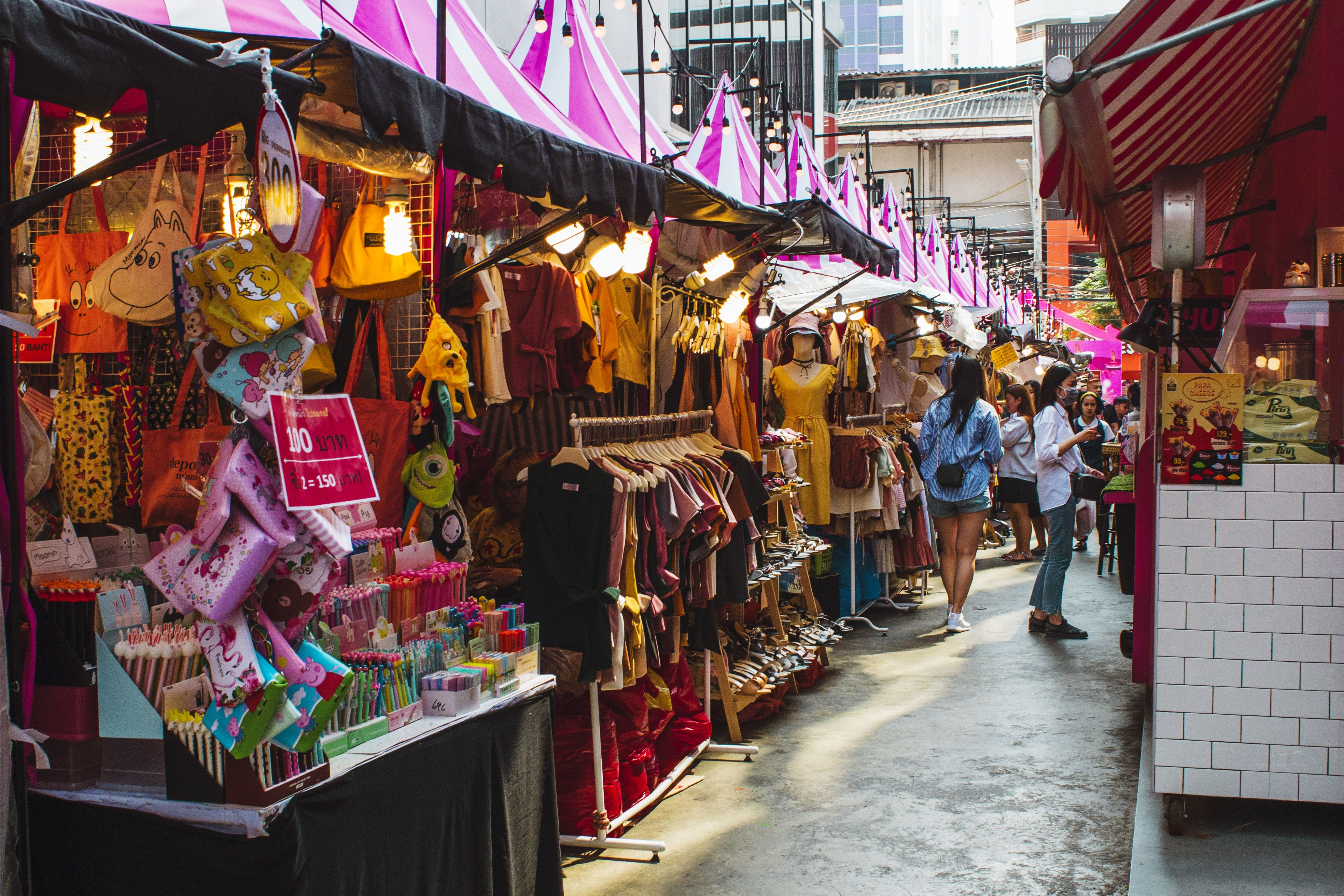 A street market in Bangkok