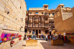 Patwon ki Haveli in Jaisalmer