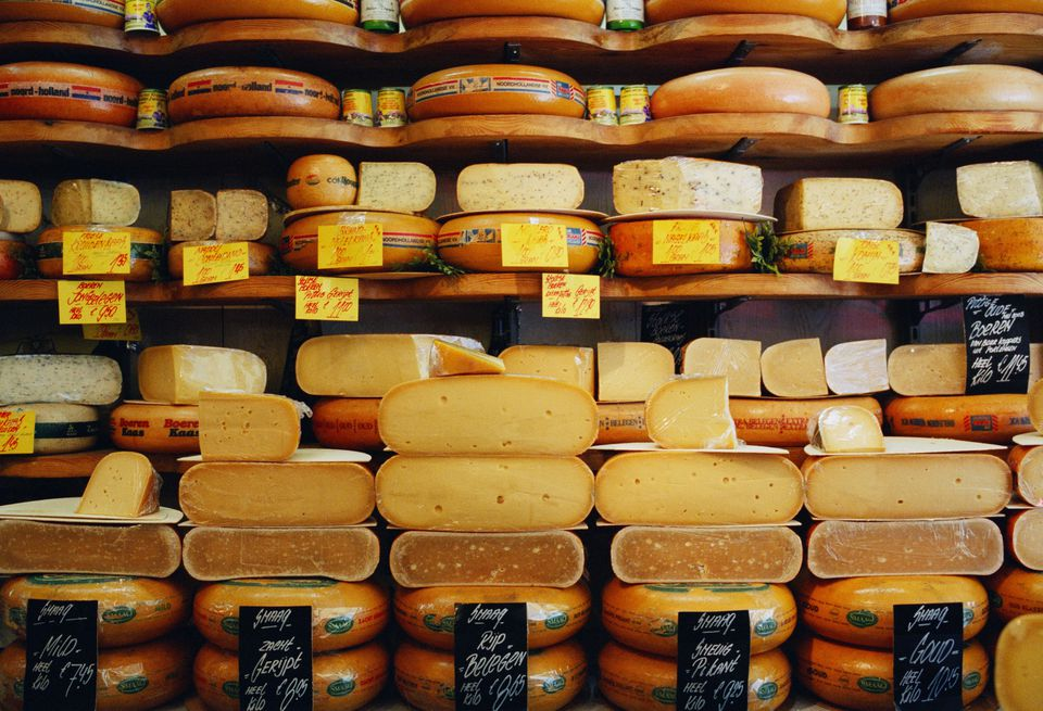 Cheese in cheese shop