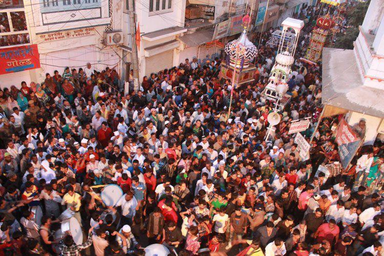 Procesión de Taziya en Udaipur.