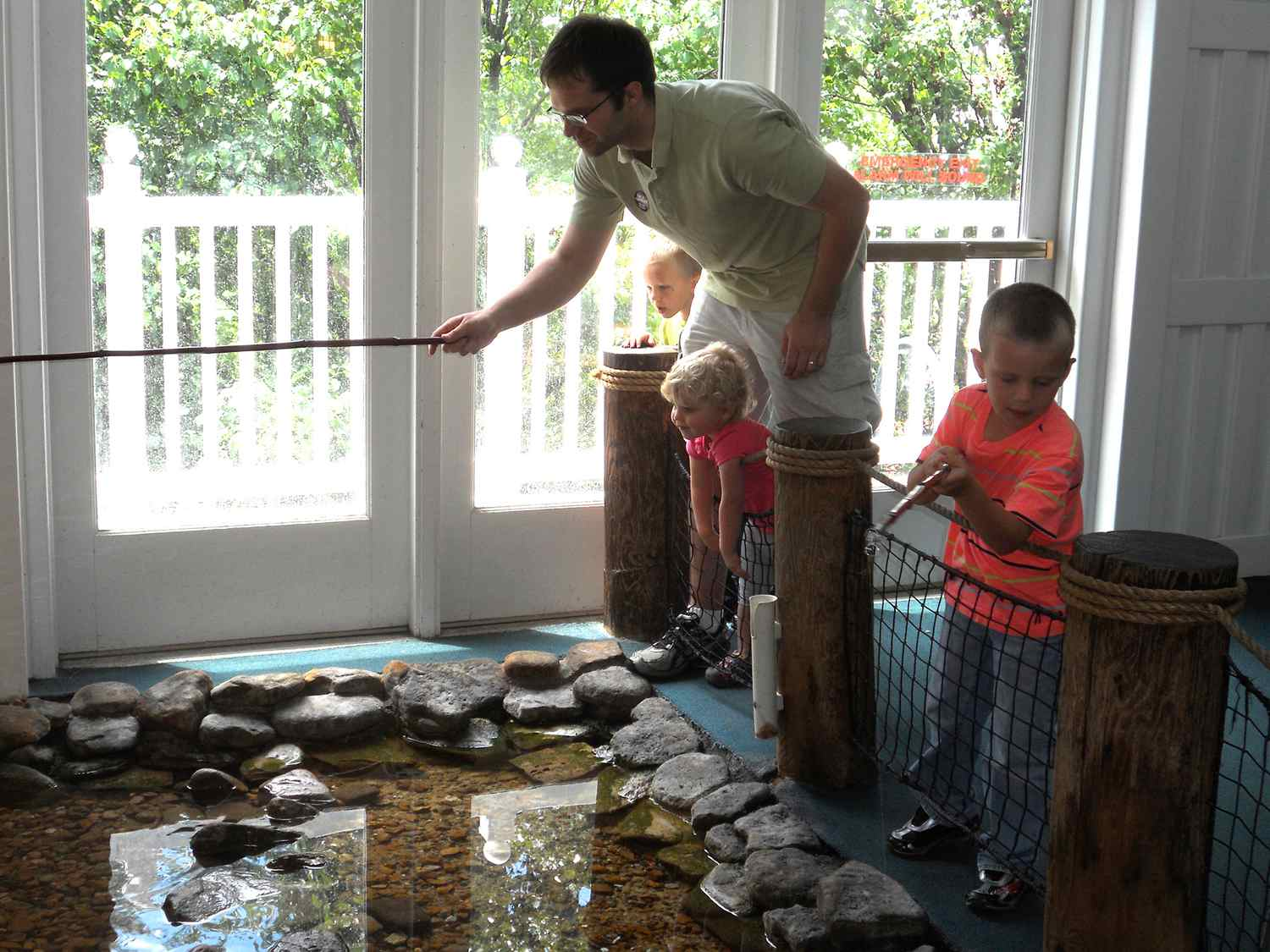 """The """"fishing pond"""" at the Magic House"""