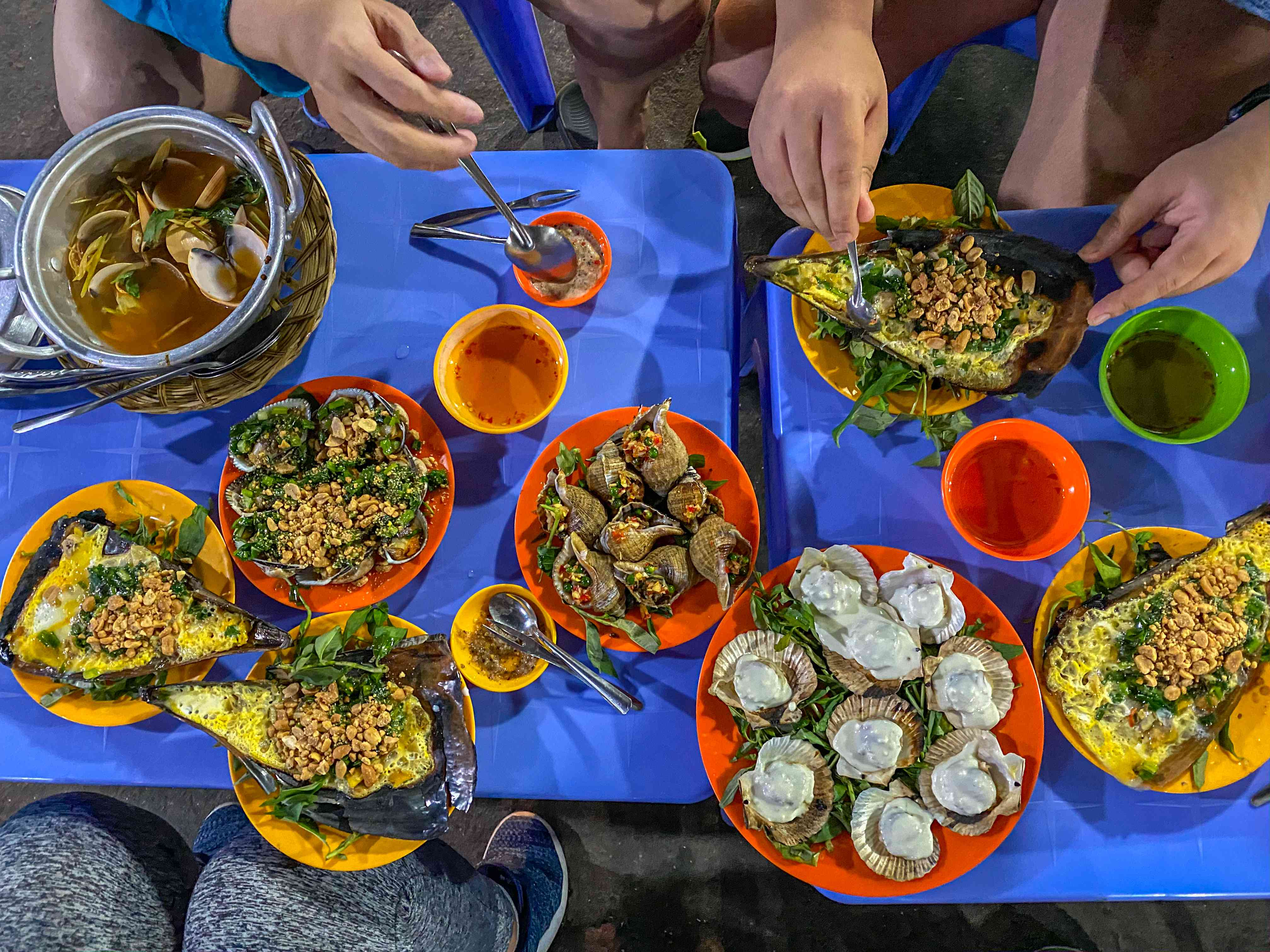 Street seafood in Ho Chi Minh City