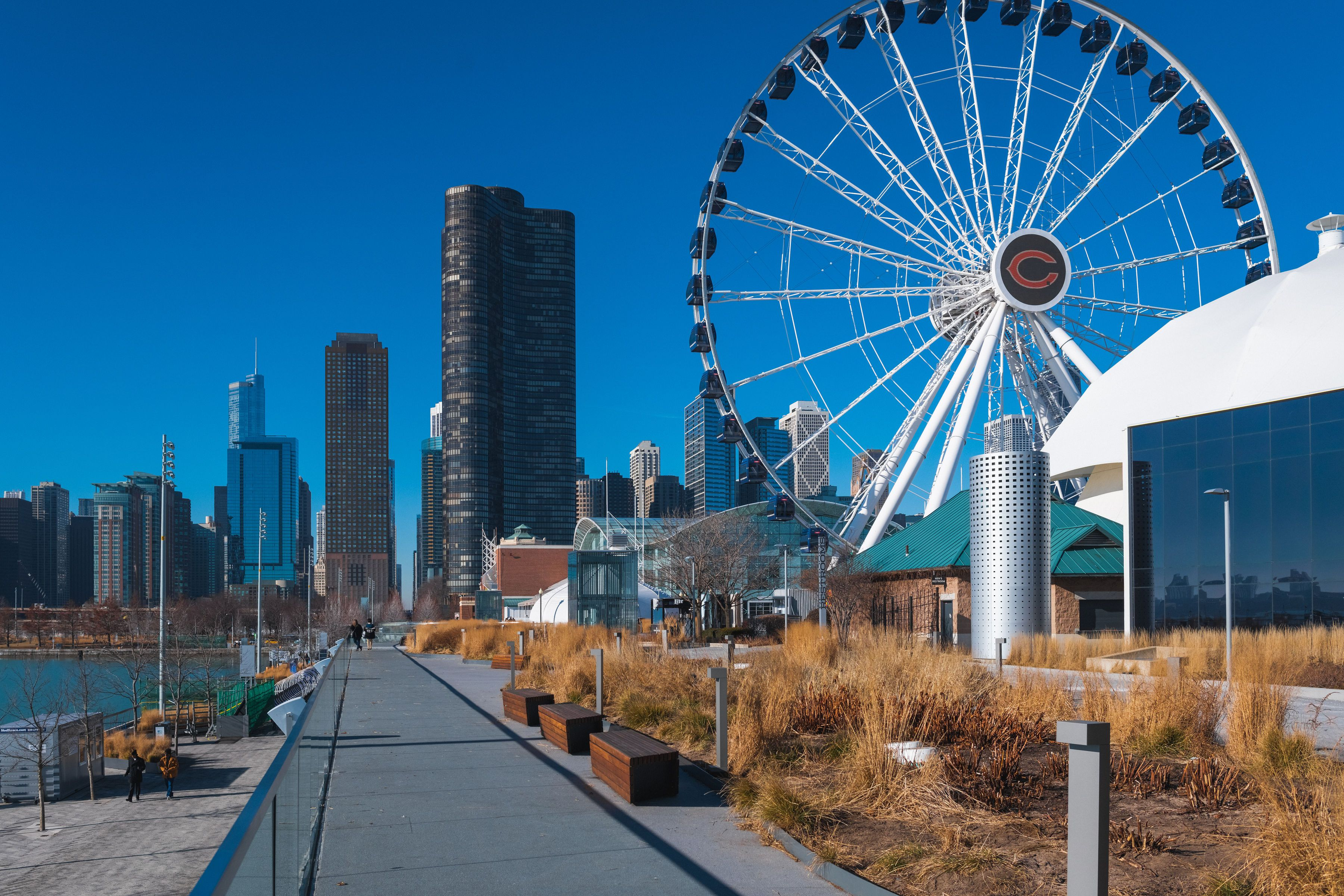 The Ferris Wheel at Chicago's Navy pier
