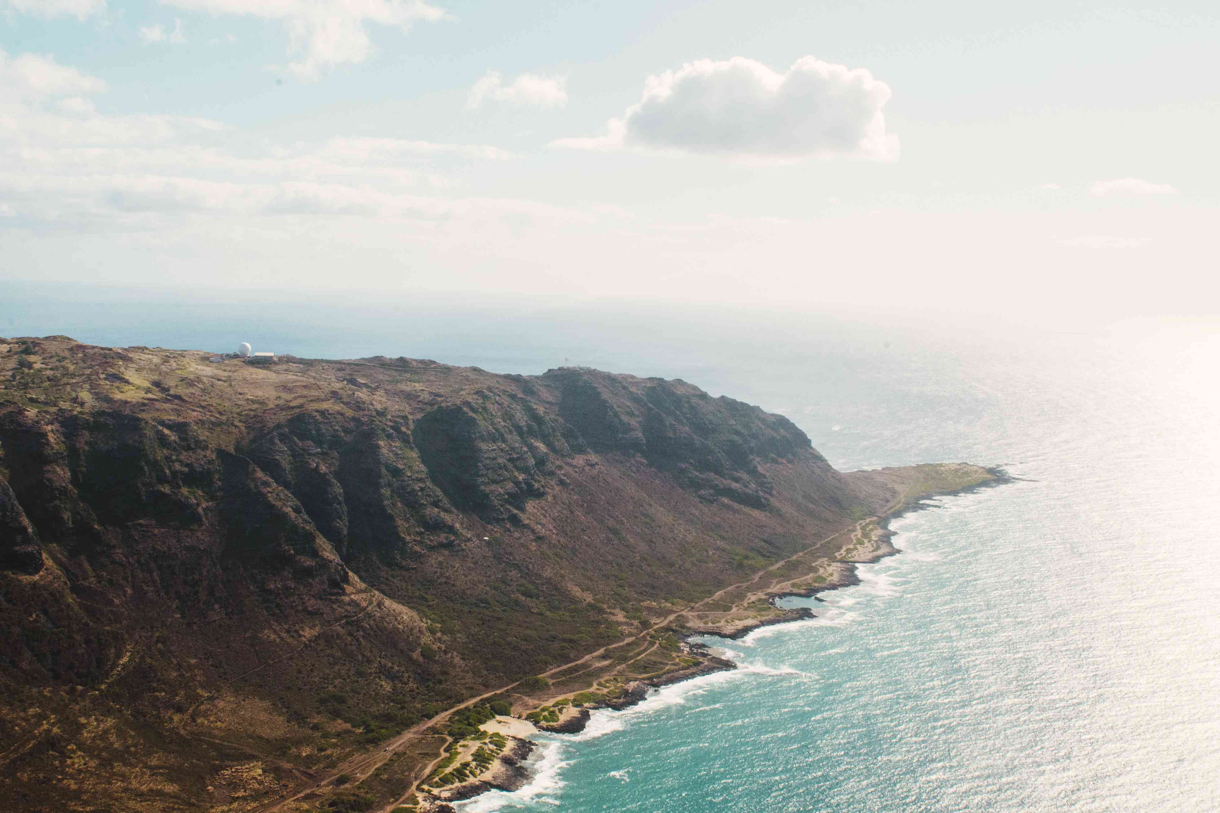 Aerial view of Leeward Coast and hawaii's most western point