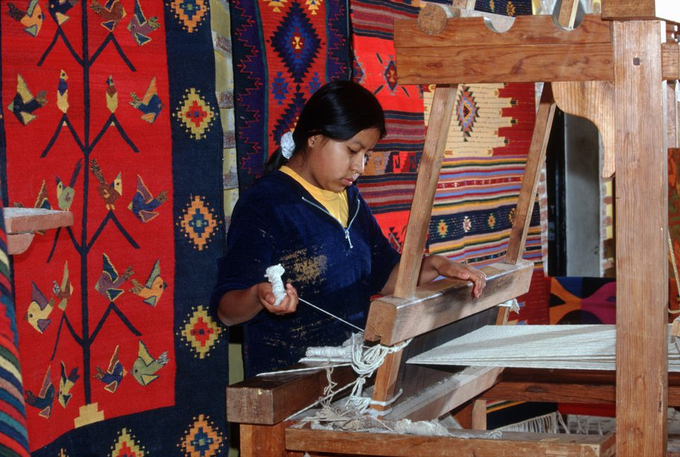 Zapotec Rug Weaving In Oaxaca Mexico