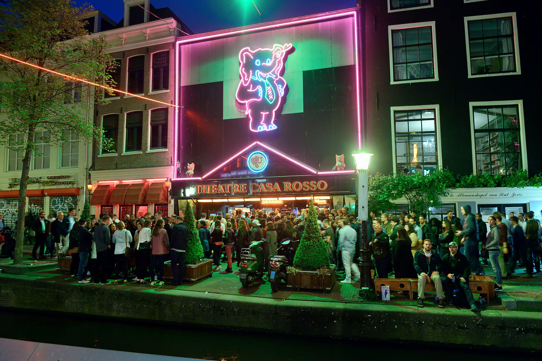 Theatre Casa Rosso in Red Light District in Amsterdam