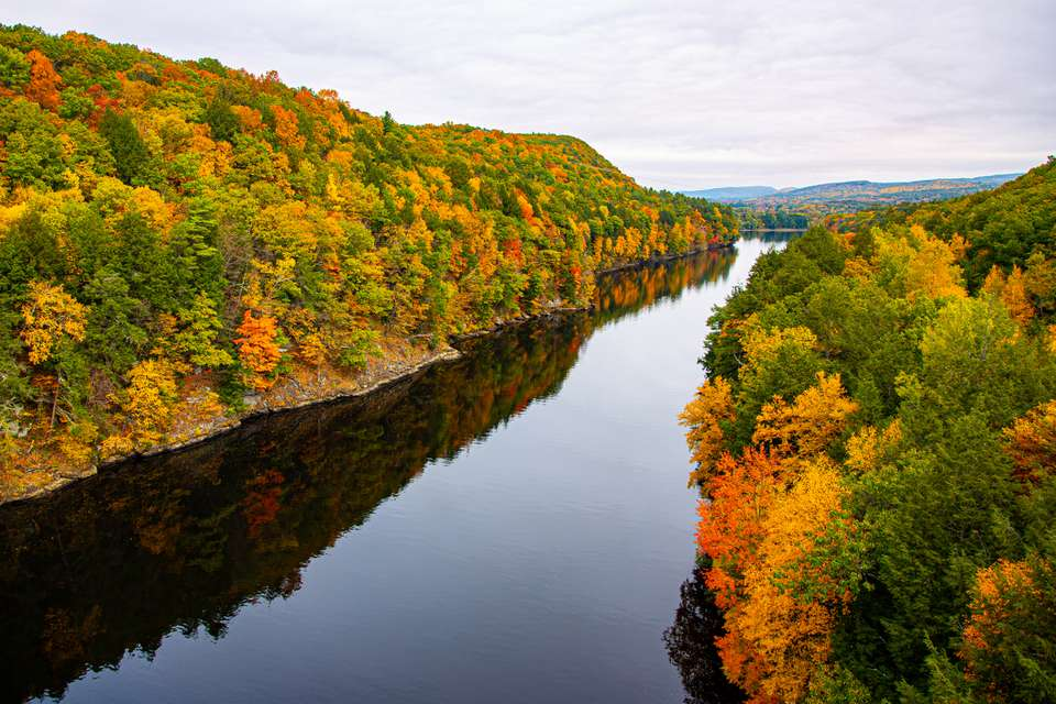 View from the The French King Bridge in Gill, Massachusetts