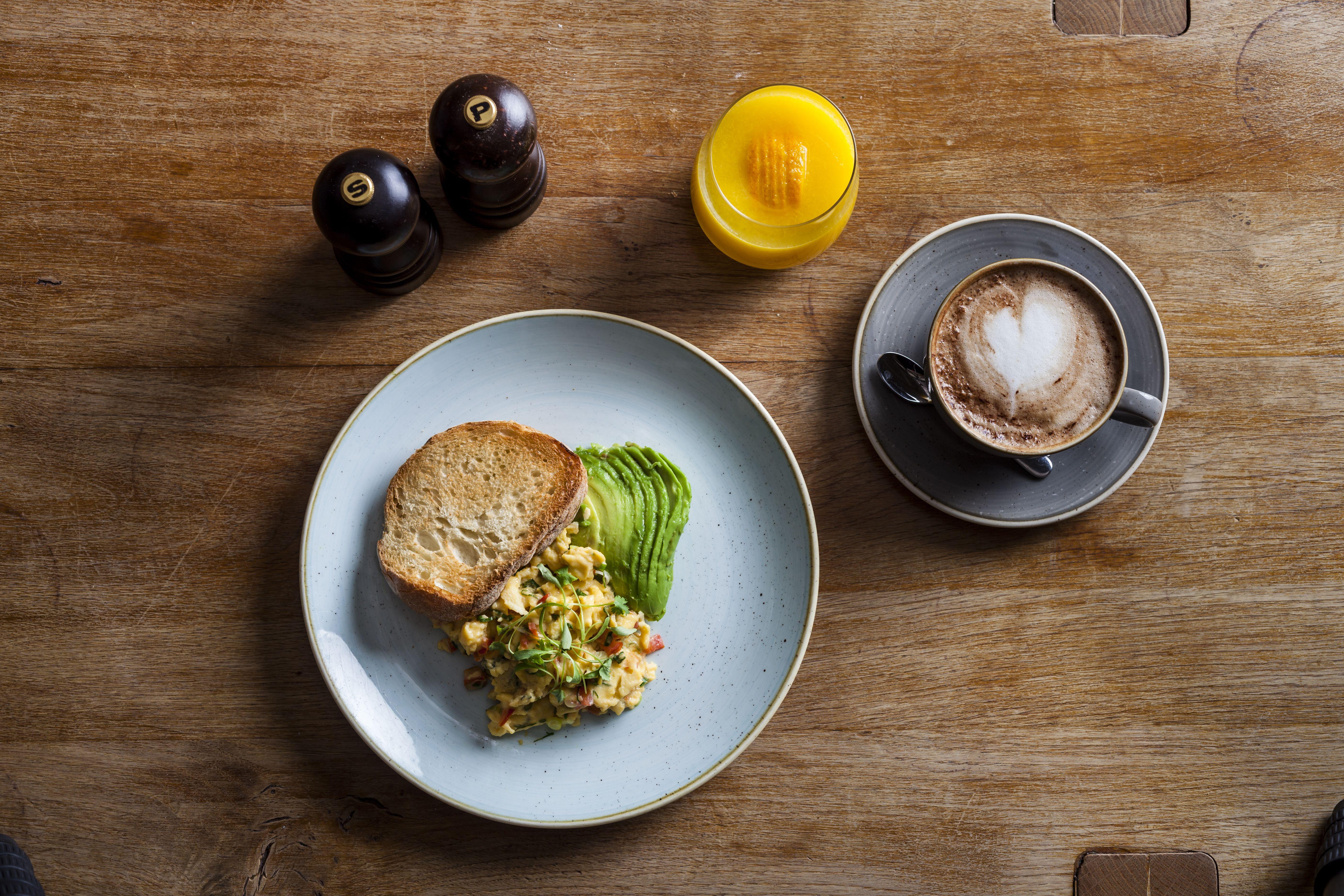 Huevos colombianos en Duck & Waffle